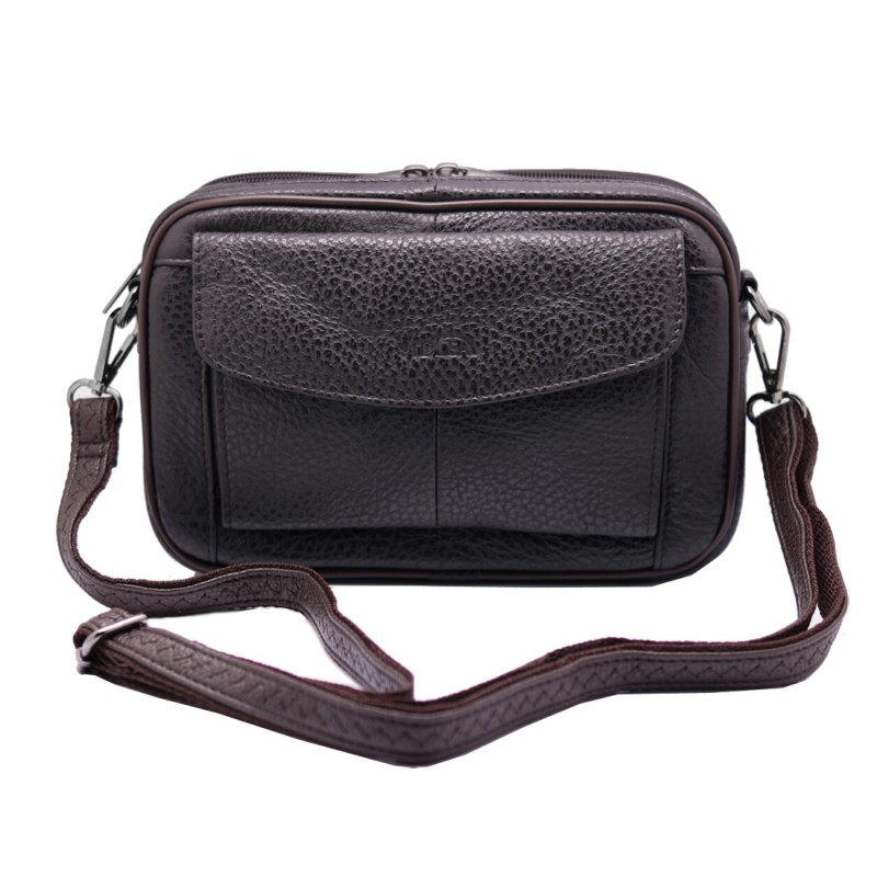 mens handbag Vidlea Brown leather bags for men clutch bag messenger bag crossbody
