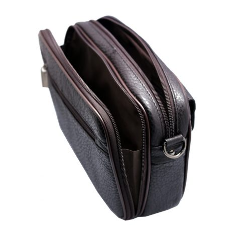 mens bags Vidlea Brown leather bags for men clutch bag messenger bag crossbody