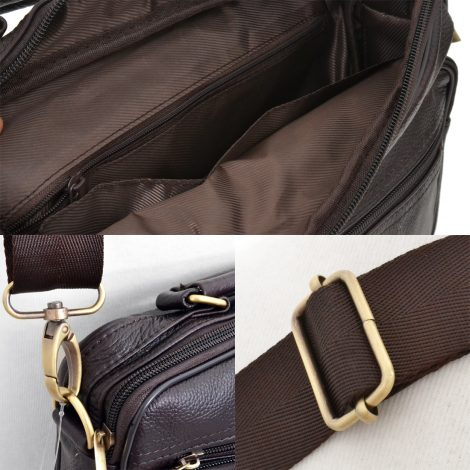 10 inch Tablet PC leather bags Basic Shoulder bagTote Bags Brown leather bags
