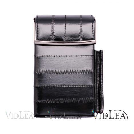 eel skin cigarette case Black Cigarette holder tobacco cases
