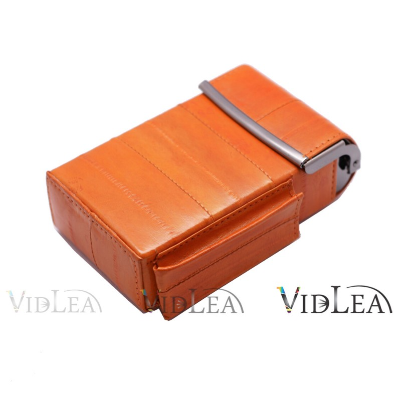eel skin cigarette case Orange Cigarette holder tobacco cases