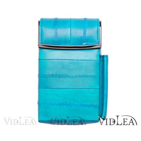 eel skin teal cigarette case Aqua Teal Cigarette holder tobacco cases