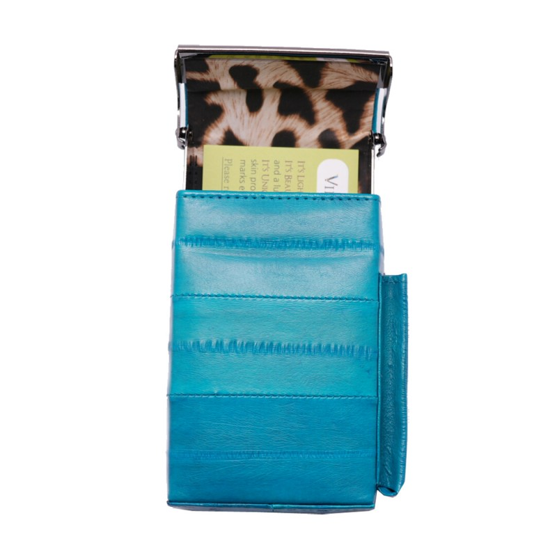 eel skin cigarette case Aqua Teal Cigarette holder tobacco cases