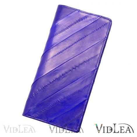 eel skin wallet Purple wallet slim long wallet eel skin purse card holder